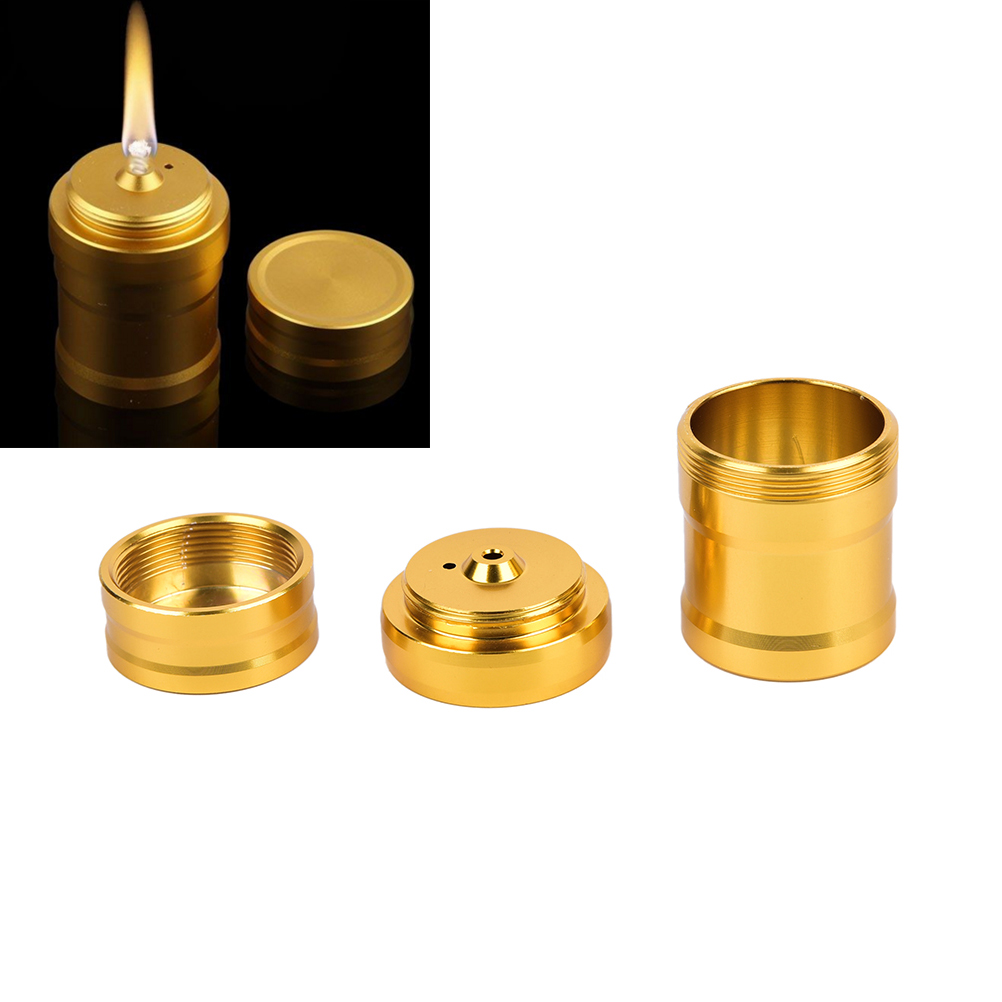 Metal Alcohol Lamp Portable Liquid Stoves For Outdoor Survival Camping Hiking Travel Without Alcohol