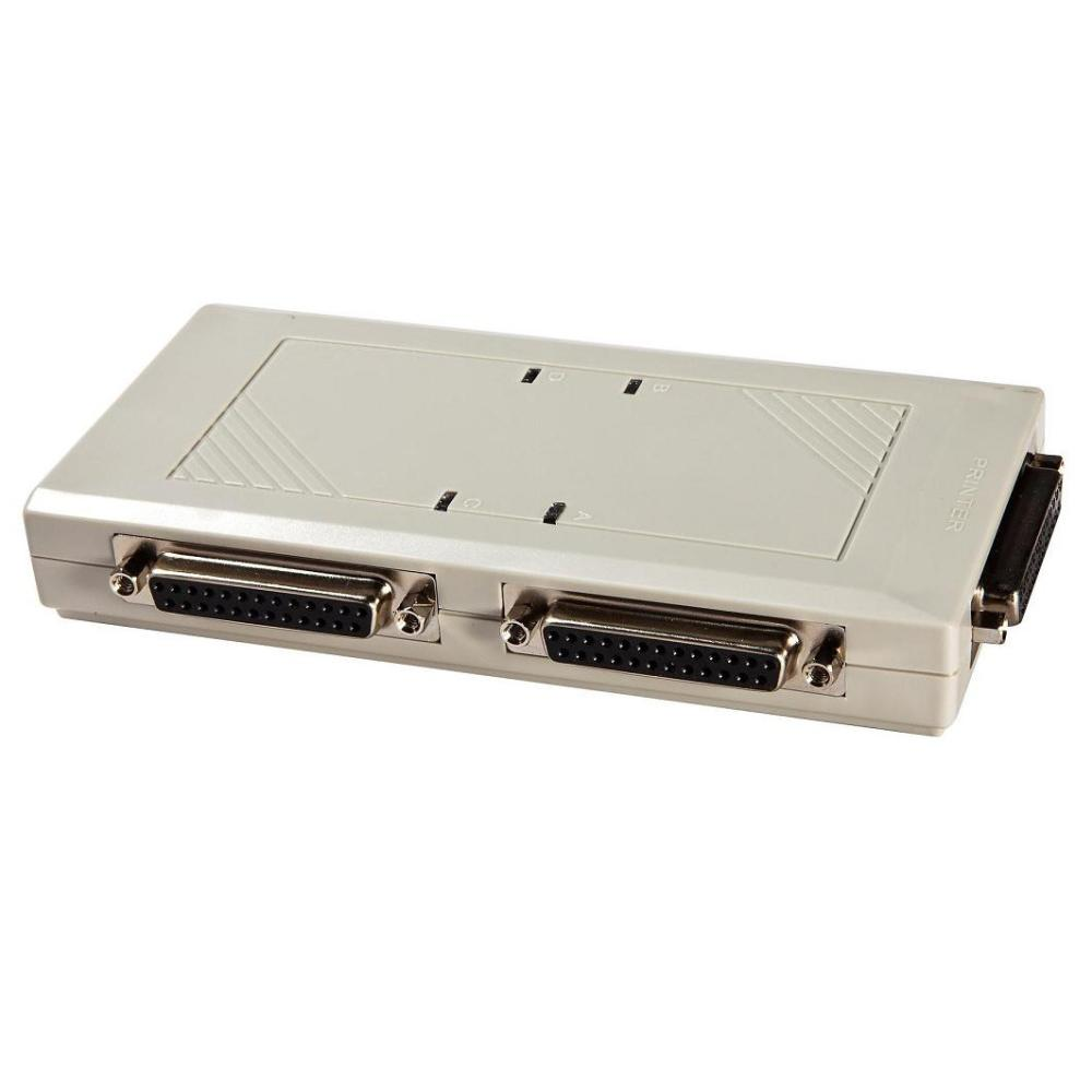 4 Ports 25 Pin Db Db25 Automatic Parallel Port Printer Sharing Rs232 Wiring Diagram Auto Switch Box No Need Buttons In Kvm Switches From Computer Office On