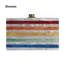 Colorful Stripe Luxury Evening Bag