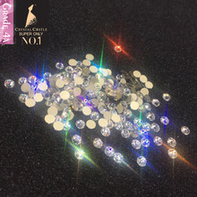 Crystal Castle Non Hot Fix Nails Stones And Crystals Hot fix Rhinestones 4A Clear Crystal Strass Hotfix Rhinestone For Clothes