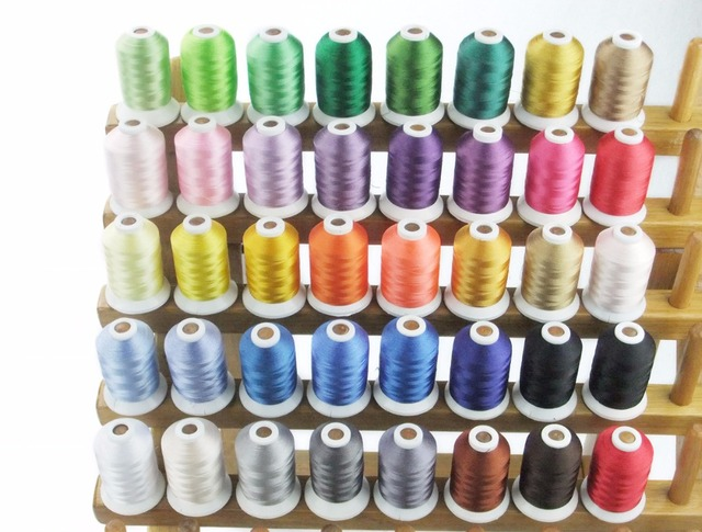 Popular Brother Color Embroidery Thread 1000mcone 40 Assorted