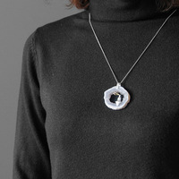 Acecare silver jewelry gifts for women 925 sterling silver pendant mistress gift without chain natural ma nao dong Crystal