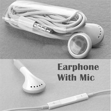 Best quality para stereo Earphone noise canceling earbuds With Mic and voice control for Apple iPhone