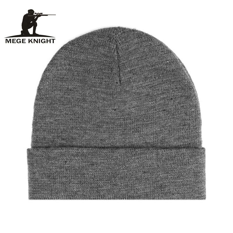 MGEG BRAND Unisex Cap Gorro, Casual Beanies for Men Women Fashion Knitted Winter Hat Solid Color Hip-hop Skullies Bonnet