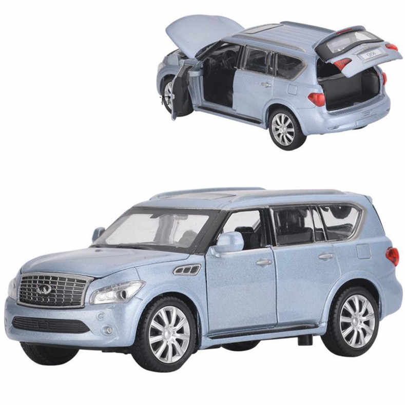 Detail Feedback Questions About Infiniti Qx56 Model Car 1 32 Scale Alloy Pull Back Toy Cast Metal Vehicles Sound Light Free Shipping 2open Doors