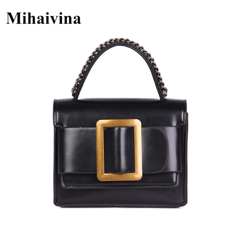 Mihaivina 2018 brand new vintage women PU leather handbag lady's fashion shoulder bags handbag tote crossbody bag messenger bags цена