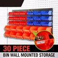 30Pcs Hand Tool box Cutter Parts Storage box Wall Mounted Bin Rack Screw Parts Stackable Combinational Stacking Container AD1019