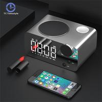 Alarm Clock LED Mirror Digital FM Radio Wireless Bluetooth Speaker Touch Sensing Electronic Desktop Tabke Clocks