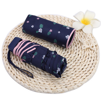 Minisombrilla portátil para Mujer, Sombrilla Plegable para lluvia
