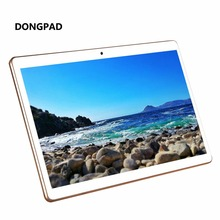 Caja de Metal DONGPAD Tableta de 10.1 Pulgadas 4 GB ROM 32 GB 5MP 1920*1200 IPS Android 6.0 GPS Bluetooth Wifi Dual SIM Tablet PCS