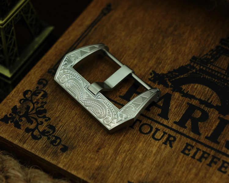 MAIKES nowy Watchband ze stali nierdzewnej sprzączka do zegarka 22mm 24mm 26mm wysokiej jakości pasek do zegarka śruba-w zapięcie przypadku dla Panerai