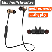 KD Brand Magnetic absorption MIC Sweatproof Gym Sport Wireless Bass stereo Bluetooth earphones For Xiaomi iPhone