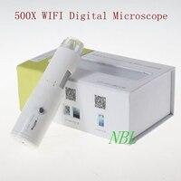500X Wi-Fi цифровой микроскоп 8 * led 25x-500x Лупа Поддержка IOS Android Беспроводной Биологический микроскоп лупы с розничной коробке