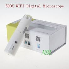 Cheapest prices 500X Digital Wifi Microscope 8*LED 25x-500x Magnifier Support IOS Android Wireless Biological Microscope Loupes With Retail Box