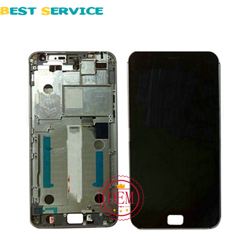 100% Tested New For Meizu MX4 Pro LCD Screen Display + Touch Screen Digitizer Assembly with Frame Black or white Free shipping аксессуар защитная плёнка для xiaomi redmi mi max 2 monsterskin super impact proof matte