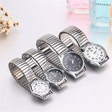 Мужские и женские деловые часы, модные, сплав, восстанавливающие, кварцевые, идеальная пара, часы из нержавеющей стали, эластичный ремешок, наручные часы