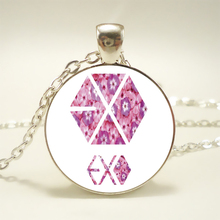 EXO Pendant Choker Statement Silver Necklace Flowers Pendant Charm Necklace For Women Dress Accessories Jewelry HZ1