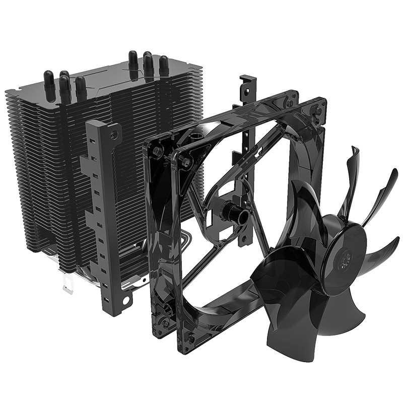 Aigo CPU Cooler 4 Heatpipes CPU Cooler Radiator untuk AMD Intel 775/115/AM3/AM4 Biru LED silent Pendingin Cpu 120 Mm 4pin CPU Fan