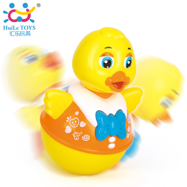 Baby Toys Tranqueta Matryoshka Musical Duck Early Learning Toys for Baby Free Shipping Huile Toys 967A Tumbler Duck Electric Toy