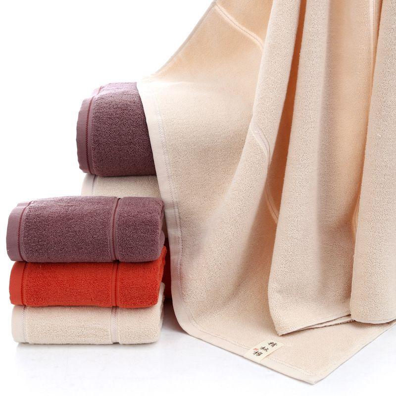 Vida simples cor sólida 100% algodão toalha de banho 70x140cm super macio qualidade vermelho/branco/brown hotel/casa/viagem toalha 1pc