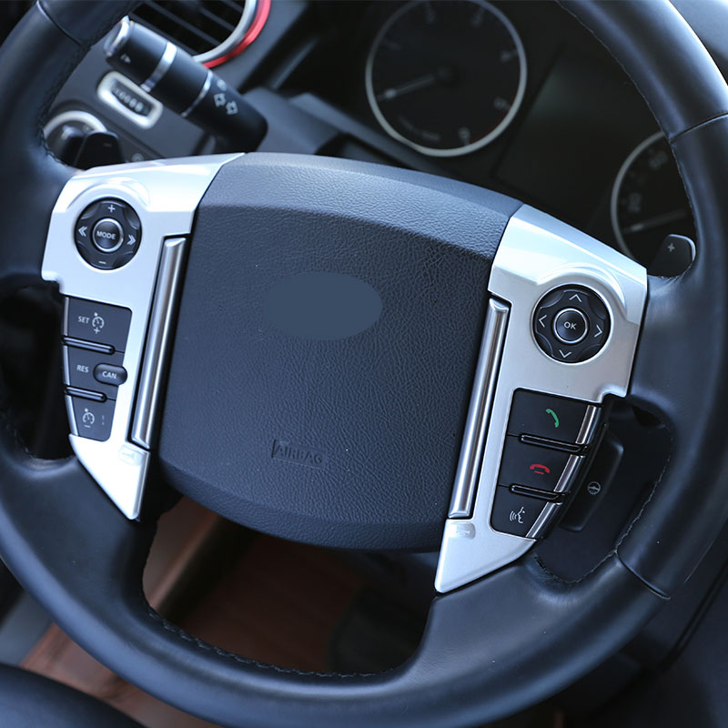 For Land Rover Discovery 4 LR4 2010-2016 Car Accessories ABS Chrome Steering Wheel Cover Trim Sticker For RR Sport 2010-2013 купить