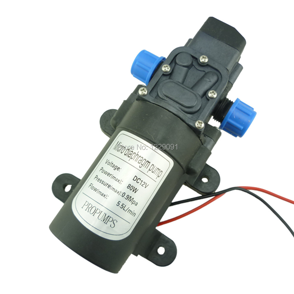 Diaphragm High Pressure small electric pump automatic pressure switch DC 80W 5.5L/min water pump 12v touch screen for plcs 10 injection molding machine repair have in stock