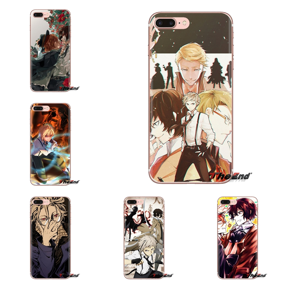 Japanese Anime Bungou Stray Dogs Transparent Soft Case Covers For Huawei Mate Honor 4C 5C 5X 6X 7 7A 7C 8 9 10 8C 8X 20 Lite Pro