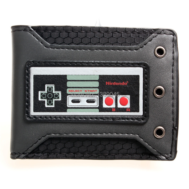 Nintendo nes handles Nintendo young students personality animated cartoon wallet card PU wallet DFT1332 5 pcs lot cartoon anime wallet wholesale nintendo game pocket monster charizard pikachu wallet poke wallet pokemon go billetera