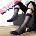 Exported to Japan South Korea ultra-thin men dress socks Transparent sexy element face short men's nylon socks free shipping