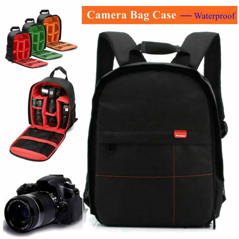 Camera Backpack Bag Waterproof Lens Case Rucksack Digital DSLR Photo Video Bag Padded Backpack ZipperlockCamera Backpack Bag Waterproof Lens Case Rucksack Digital DSLR Photo Video Bag Padded Backpack Zipperlock