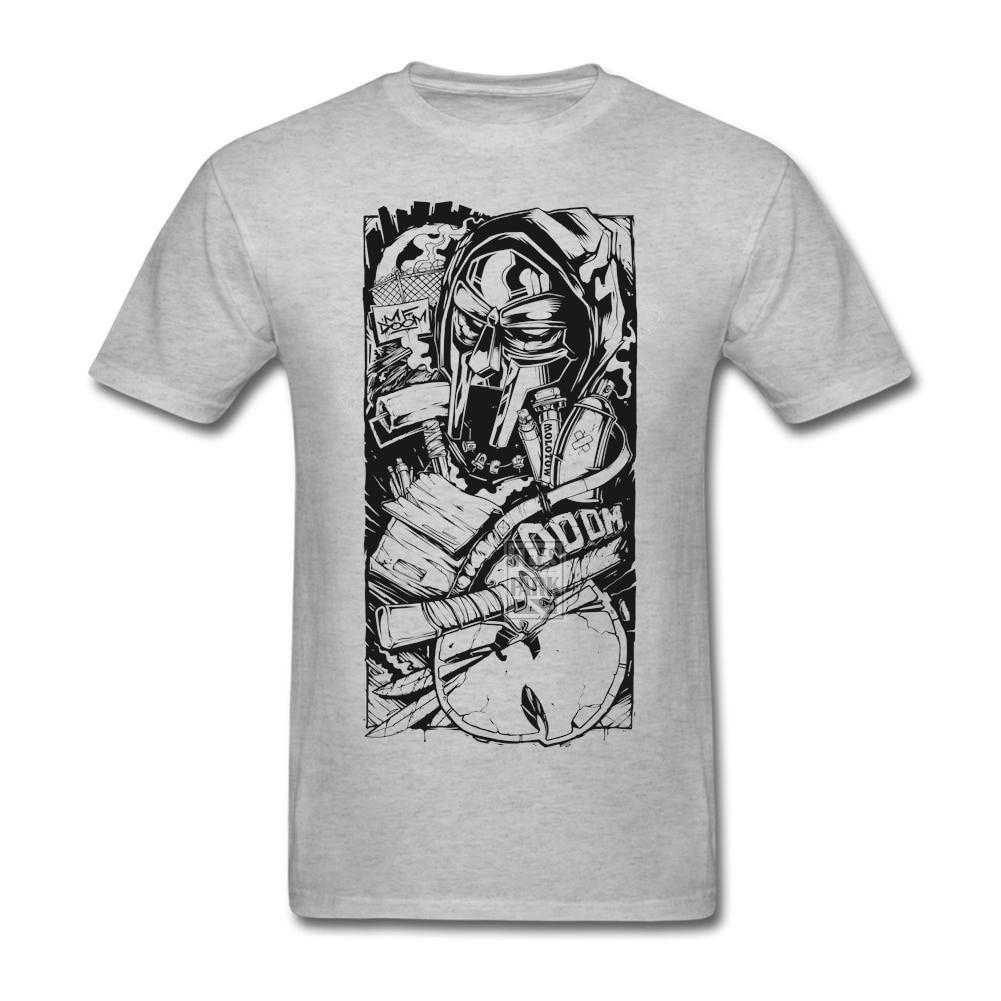Design t shirt 2017 - Creative Design Men T Shirts Mf Doom Game Crew Neck Tops Short Sleeve Tees Shirt 2017