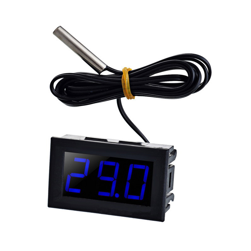 "DC Размеры 5–12 V 0.56 ""тестер цифровой temp термометр Сенсор-50-110 по Цельсию Температура Калибр синий светодиод"
