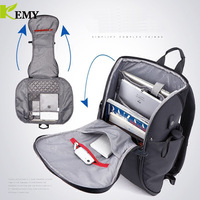 KEMY Chest bag New Notebook for Men Anti thief Design Travel Backpack Fit for 15.6 inch Laptop Bag Male Business Travel Bags