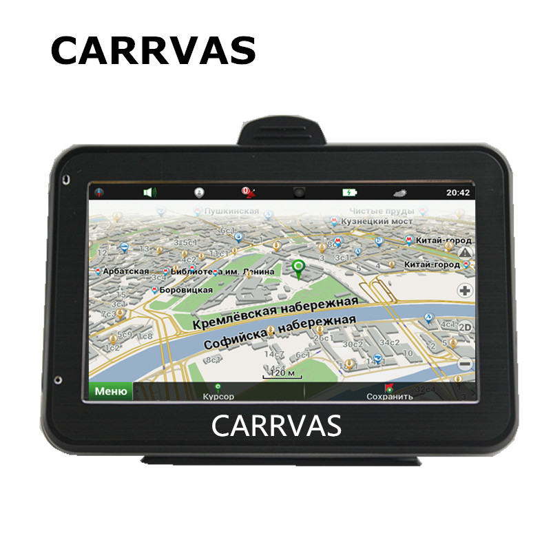 CARRVAS 4 3 touch screen car GPS navigation system 128M DDR 800Mhz CPU with new Europe