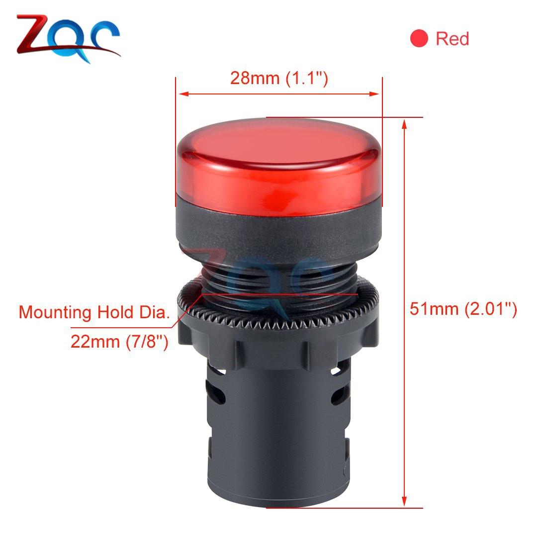 AD16-22DS LED Indicator Pilot Panel Warning Light Signal Lamp Panel 22mm NEW