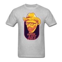 Modern Art Logo Design On Men Shirts Cheap Price Classic O Neck T Shirt Making Adult
