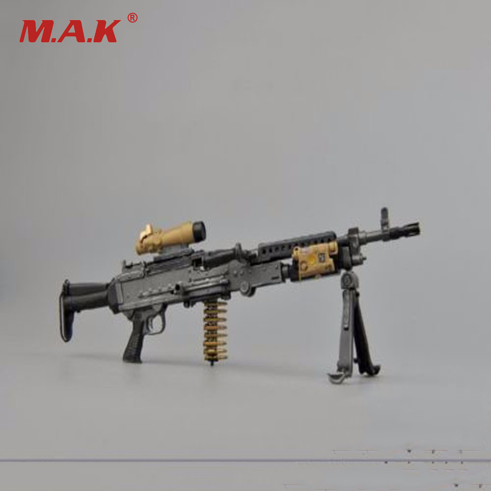 Kids Gifts Collections 1/6 Scale Soldier Army Weapons Model General Machine Guns Rifle Gun M240L ZYTOYS Toys   For 12 Figure Ac 1 6 scale plastics united states assault rifle gun m16a1 military action figure soldier toys parts accessory
