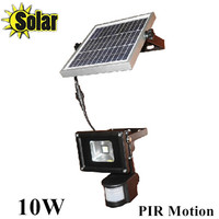 New 10W PIR Reflector Infrared LED Human Motion Sensor Floodlight Outdoor Spotlight Solar Battery Charging 1pcs