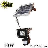 New 10W PIR Reflector Infrared LED Human Motion Sensor Floodlight Outdoor Spotlight Solar Battery Charging 1pcs