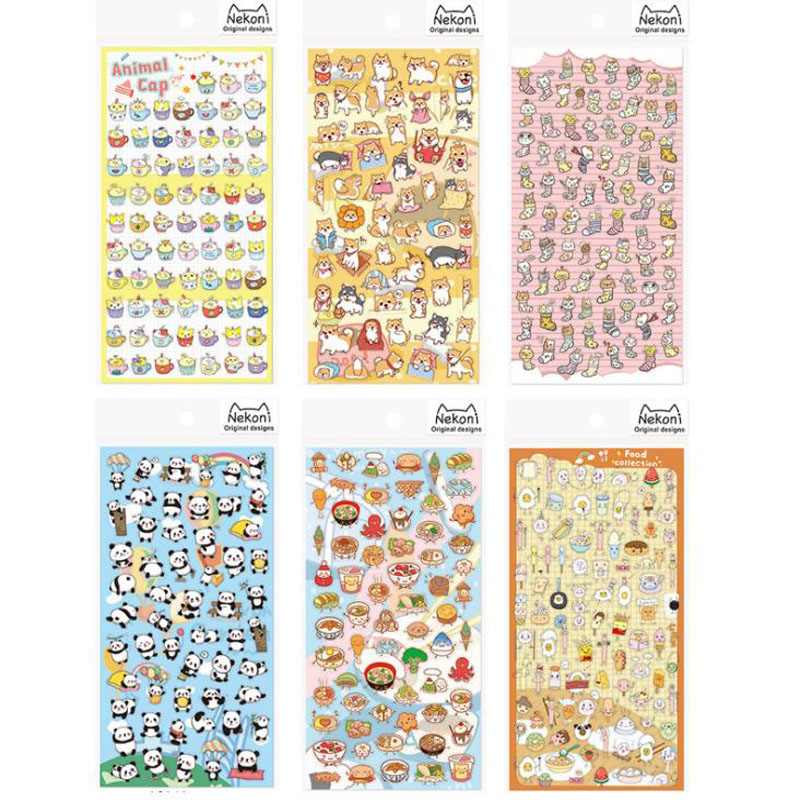 1 Pcs Hot Japanese-style Cartoon Animals Sticky Notes School Supply Bookmark Label