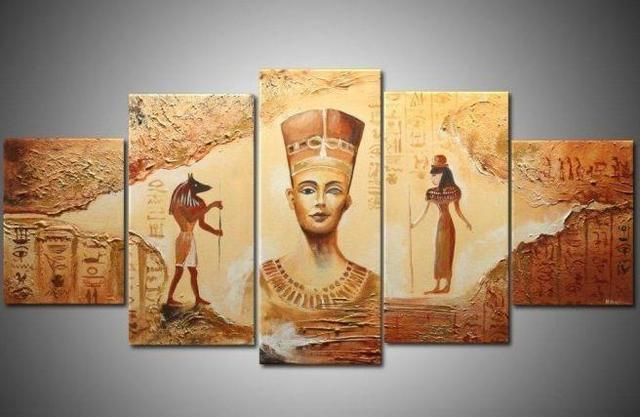 Oil Painting On Canvas Oh5298 Abstract Ancient Egyptian Civilization Hand Painted Home Decor Wall Art