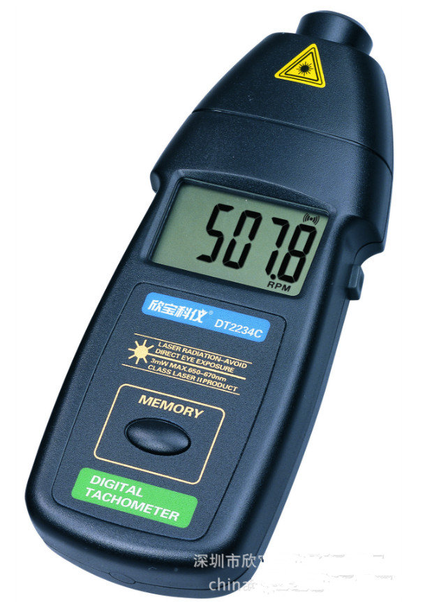 все цены на Digital Laser Photo Tachometer Non Contact RPM Tester Meter Gauge digital Speedometer Speed Meter DT2234C
