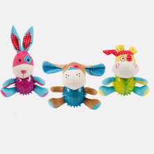 HELLOMOON Cute TRP Plush rabbit puppy calf clean tooth new bite-resistant pet dog toys for large dogs