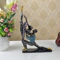 Classical Ballet Dancing Couple Figurine Handmade Polyresin Ballerina Statue Decor Souvenir Gift and Craft Ornament Accessories