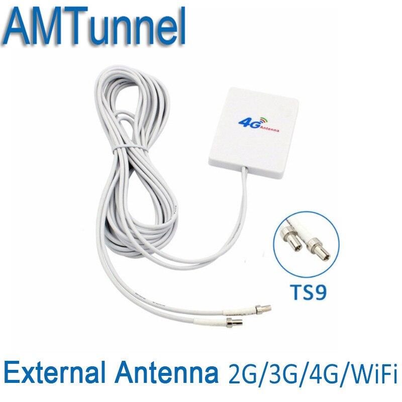 3G 4G LTE Antenas ts9 conector 4G LTE router anetnna 3G externa Antenas con 3 m cable para Huawei 3G 4G LTE router Modem