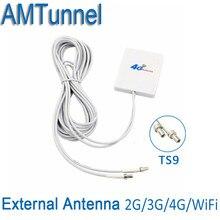 3G 4 г LTE Телевизионные антенны TS9 Разъем 4 г LTE маршрутизатор anetnna 3G внешний Телевизионные антенны с 3 м кабель для huawei 3G 4 г LTE модем-маршрутизатор