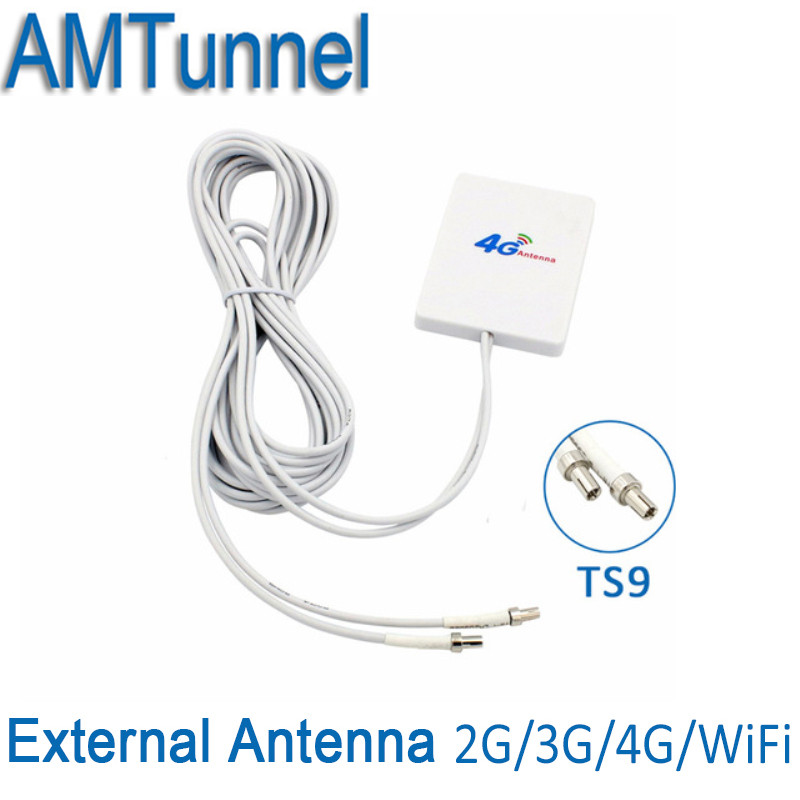 3G 4G LTE Antenna TS9 Connector 4G LTE Router Anetnna 3G external antenna with 3m cable for Huawei 3G 4G LTE Router Modem