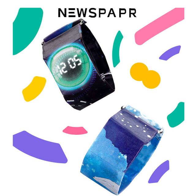 2018 New NewsPaper Watch Popular Men And Women Led Paper Watch New Technology Ca