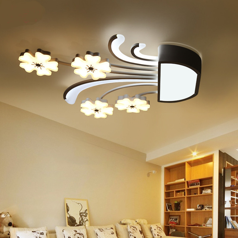 Flower led ceiling lights for bedroom Living room Kitchen luminarias para teto indoor home lighting modern led ceiling lamp living room ceiling lamp for indoor home lighting bedroom kitchen light fixture dimer luminarias led ceiling led lights for home