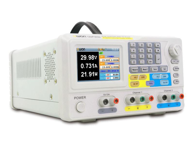 Owon ODP3032 LCD programmable alimentation DC 30 V / 3A fixé 5 V / 3A 195 W 1 mVmA